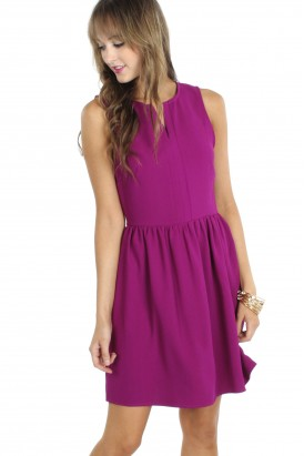 fit and flare magenta