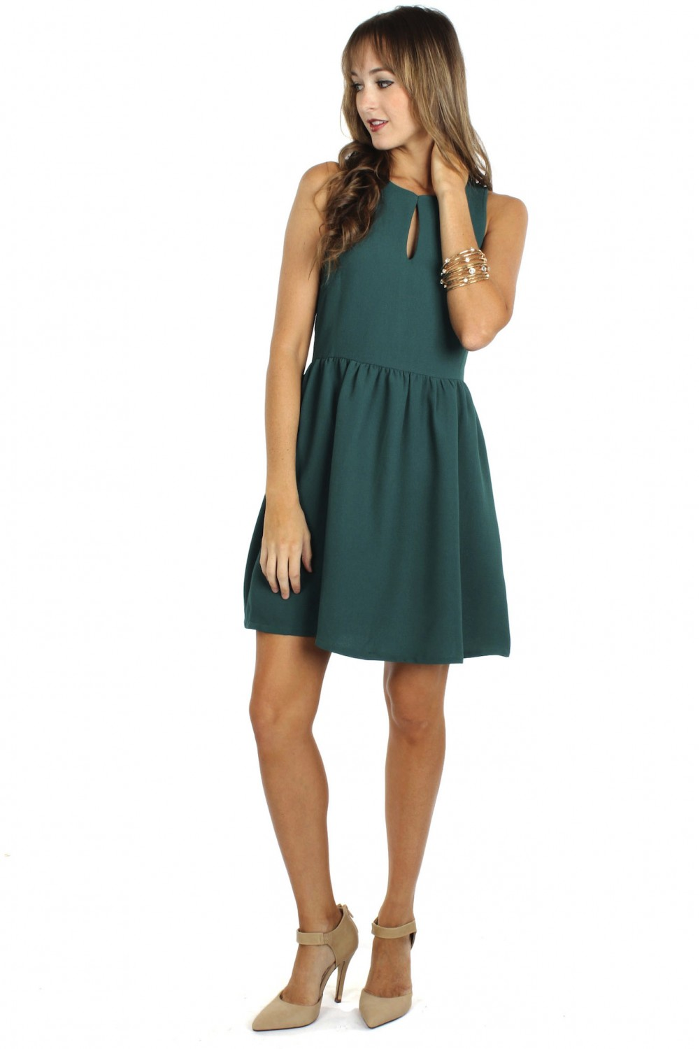 fit flare green
