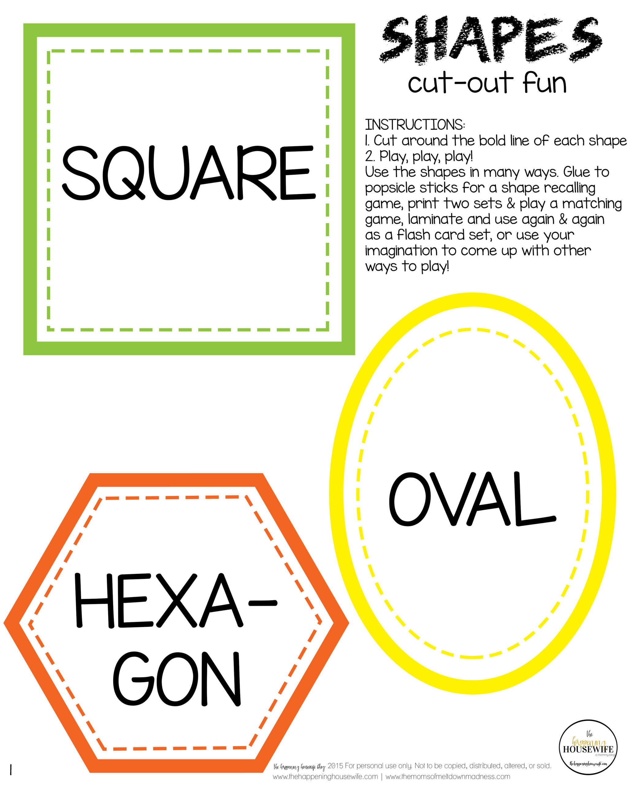 graphic about Printable Sets known as 5 Form Studying Game titles + Totally free Printable Preset