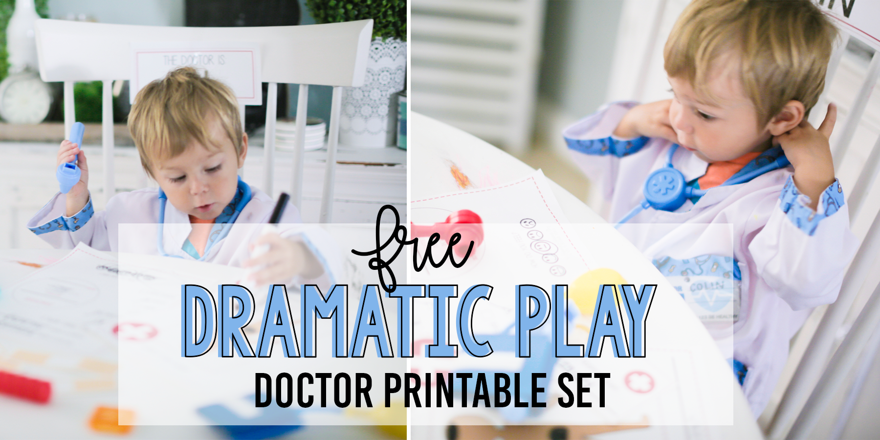 FREE Doctor Play Set Printables