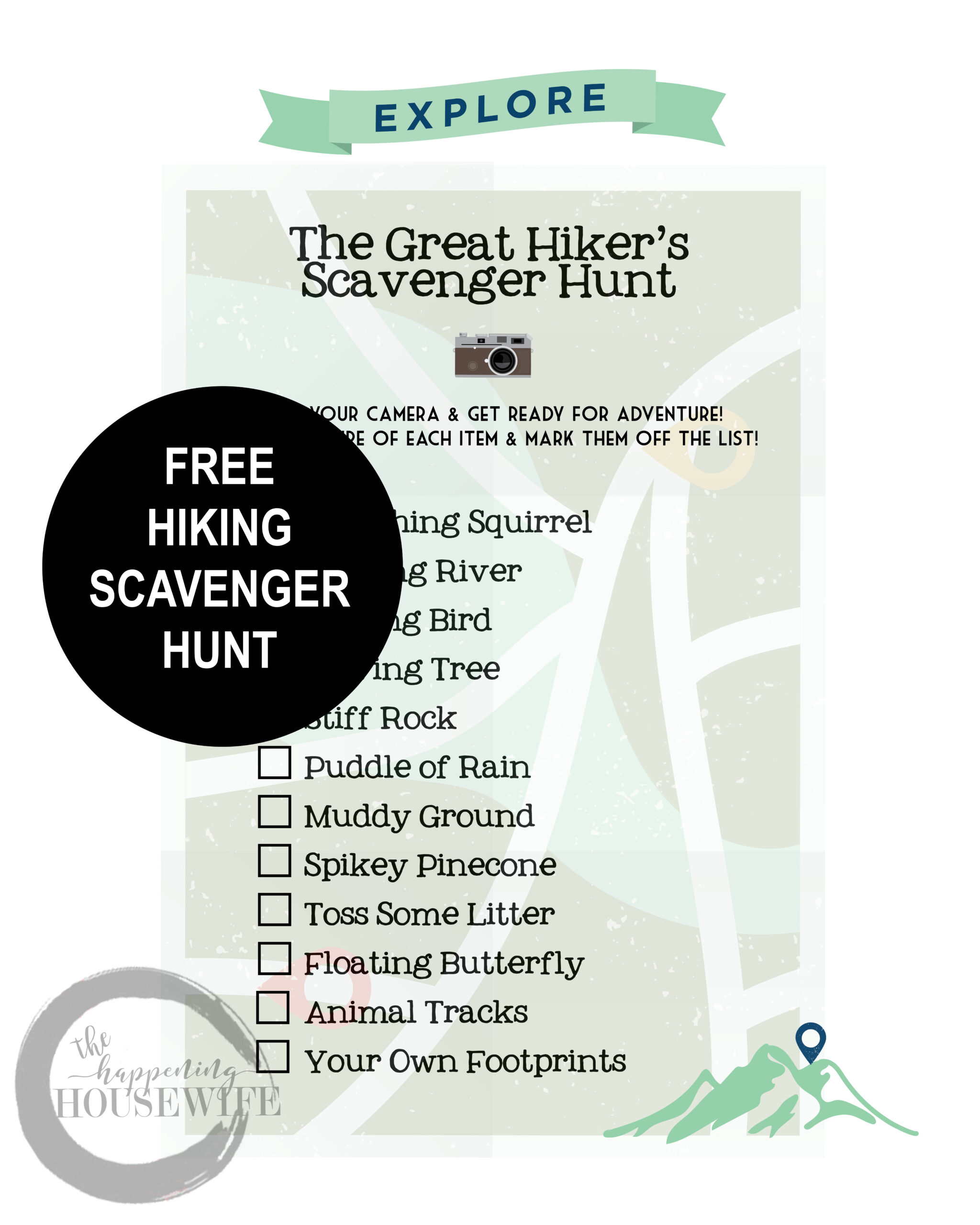Hiking Scavenger Hunt