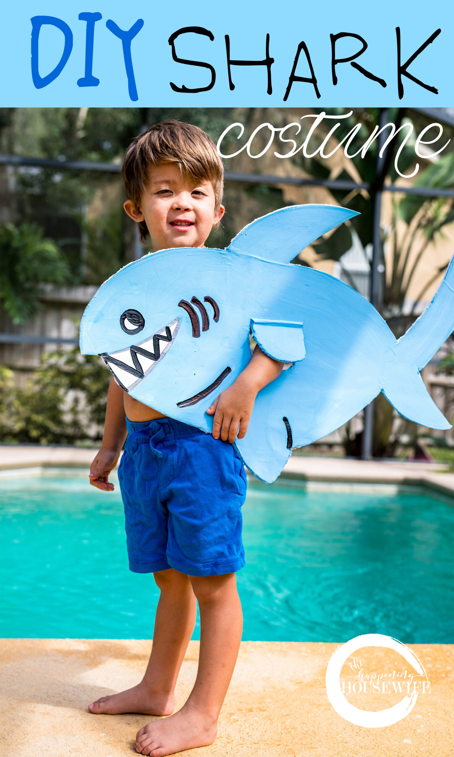 DIY $5 Shark Costume