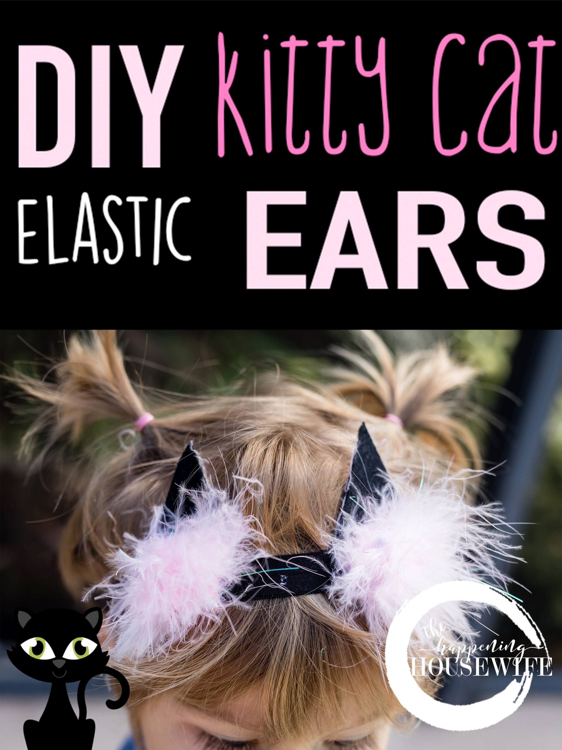 DIY Elastic Kitty Cat Headband