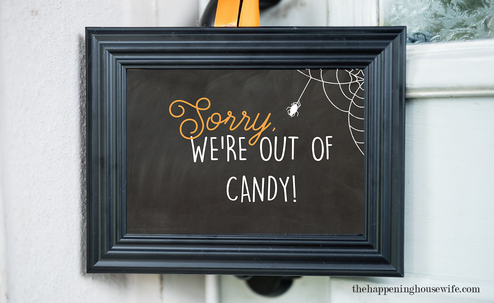 FREE Halloween Out Of Candy Sign