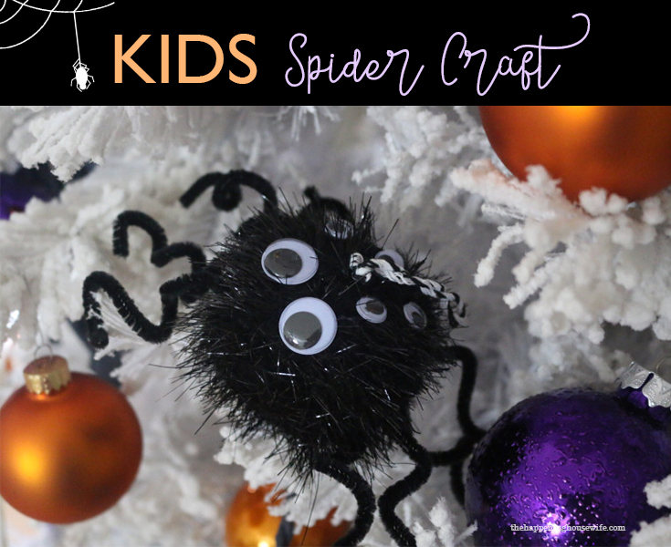 DIY Halloween Giant Spider Craft