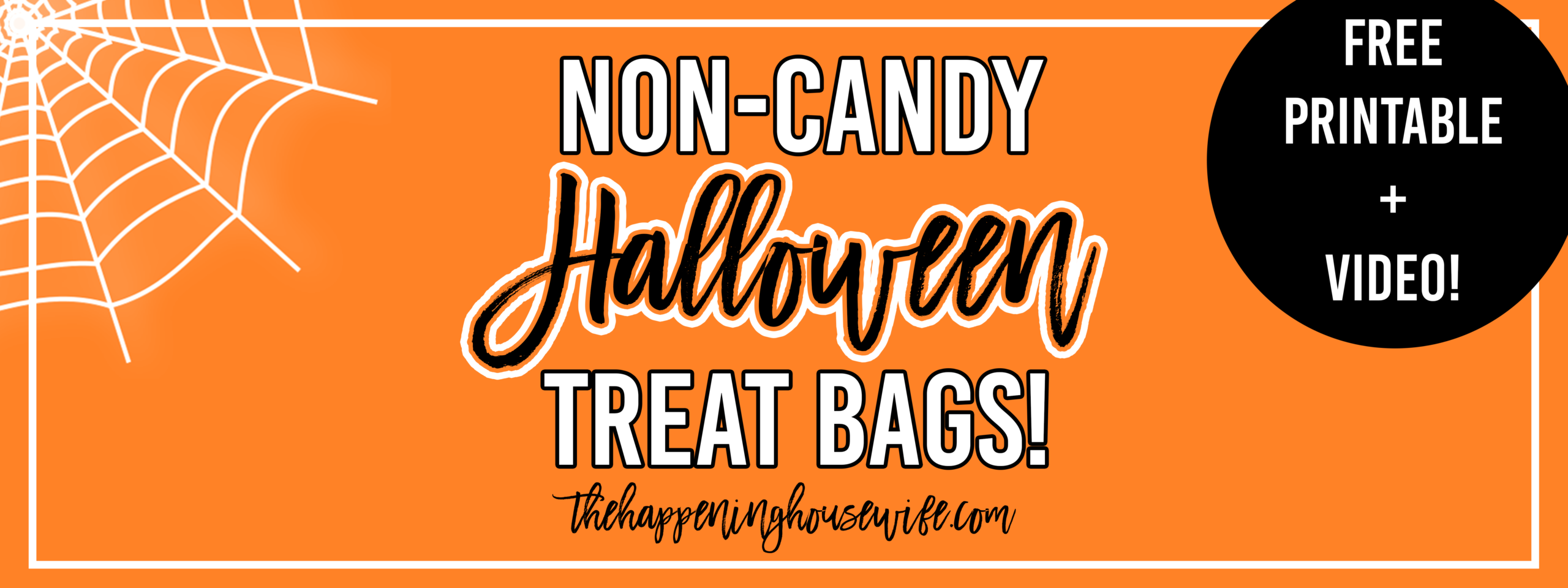 Non-Candy Halloween Treat Bags! + FREE Printable!