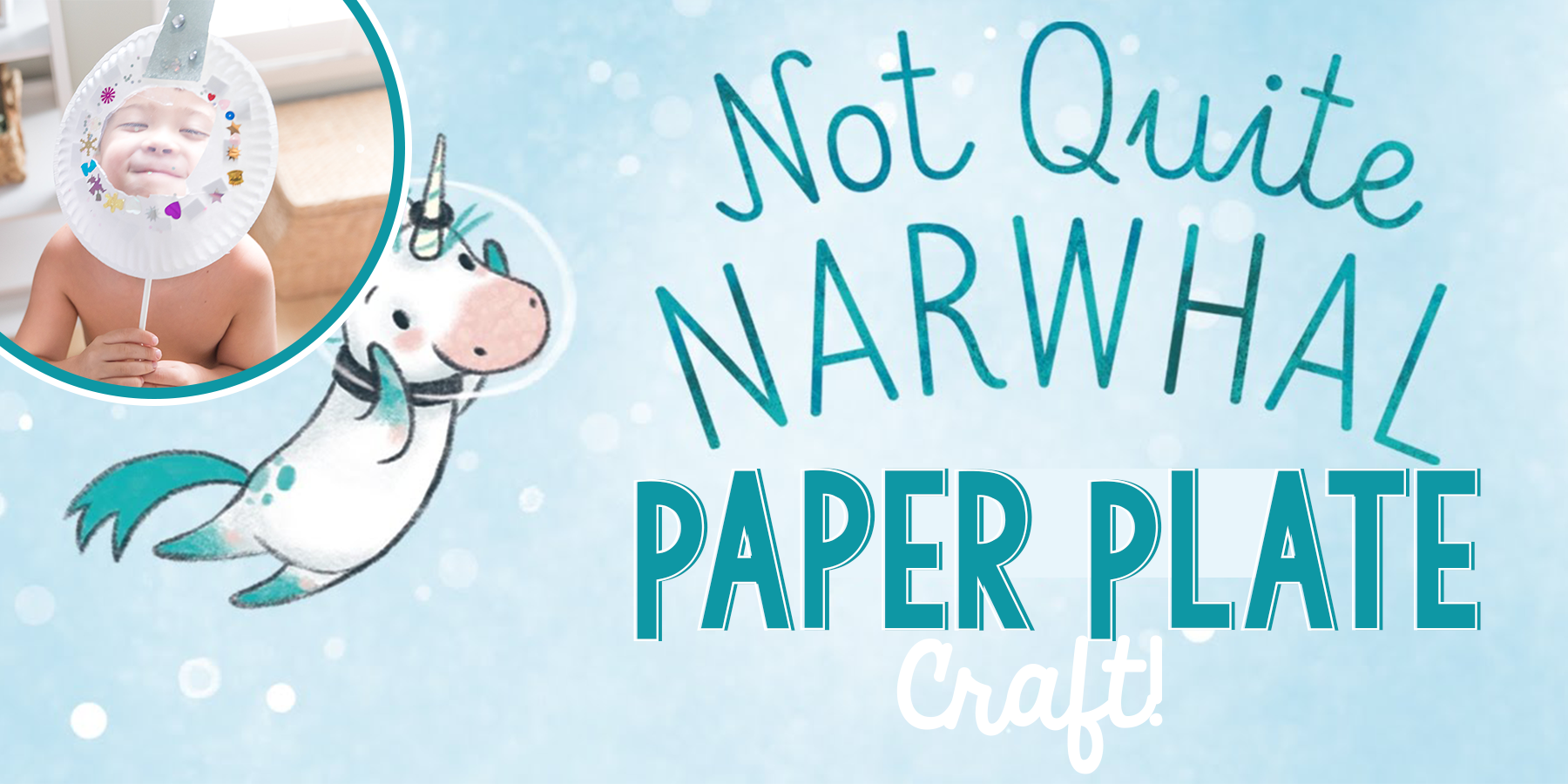 Not Quite Narwhal | Paper Plate Craft!