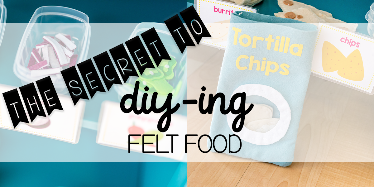 The Secret to DIY Felt Food! + FREE Taco Shack Printable Set!