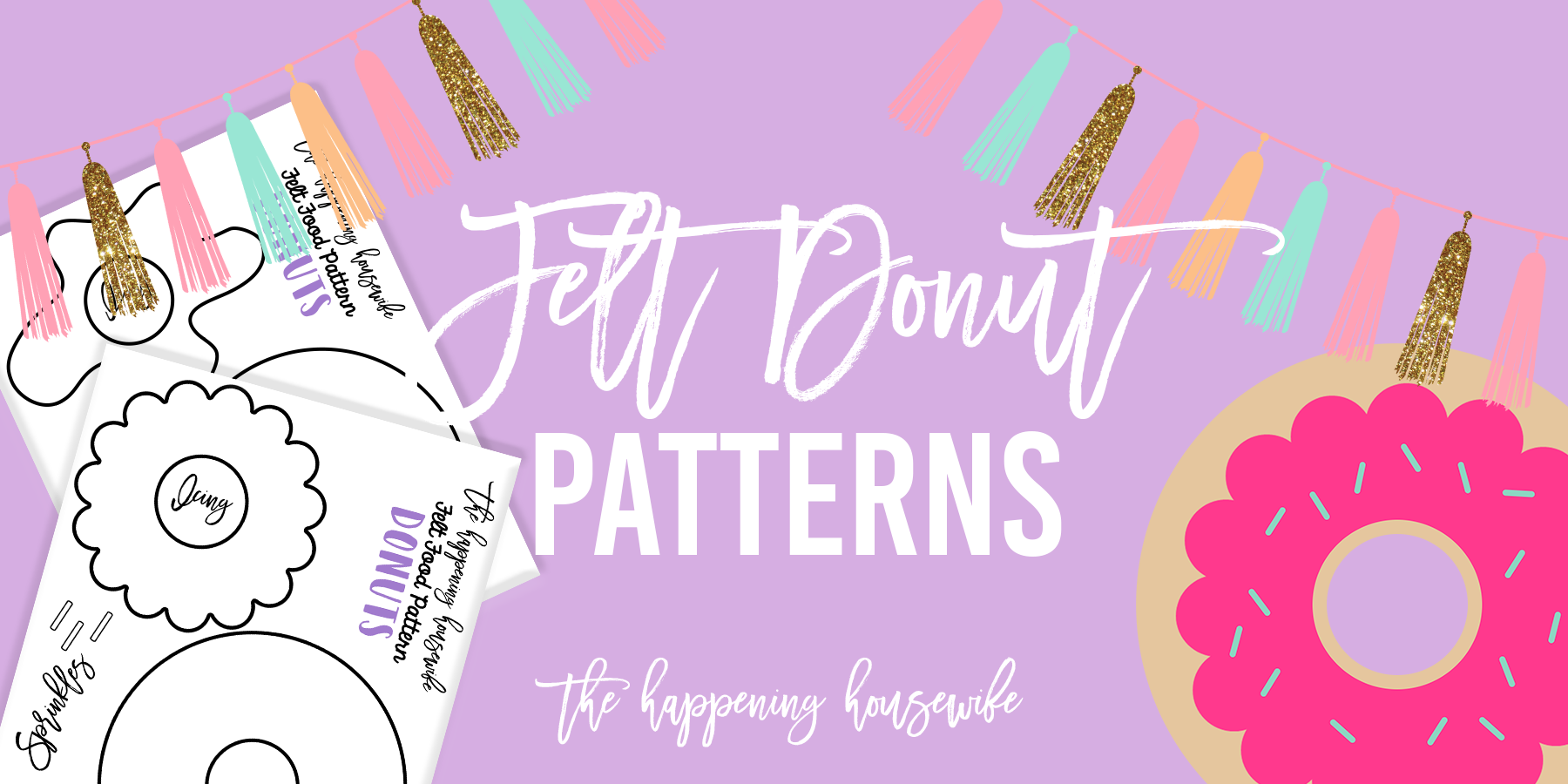 felt donut patterns header