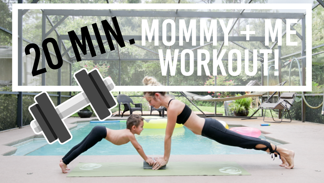 20 Minute Mommy + Me Toddler Workout at HOME! | High Five Routine