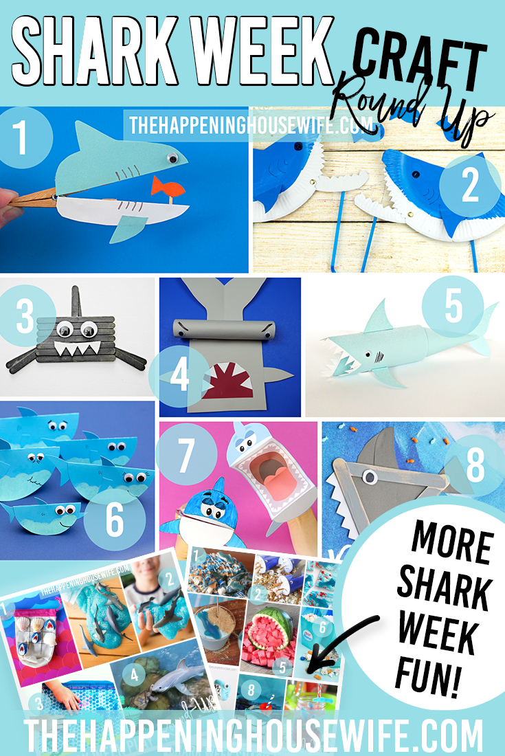 Shark Week Craft Pin