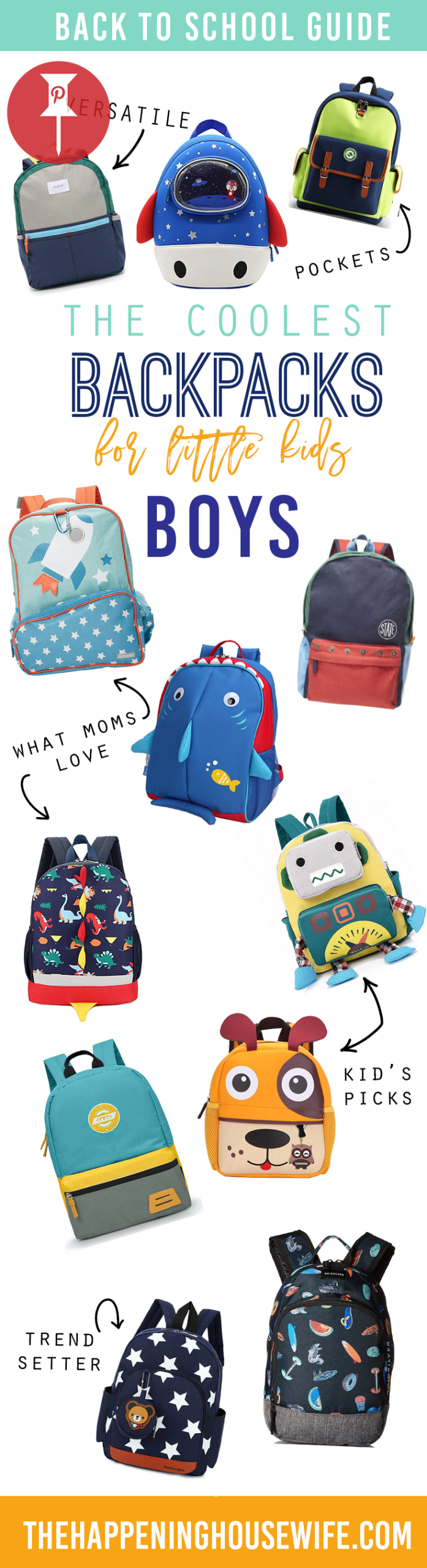 cool little boy backpacks for toddlers