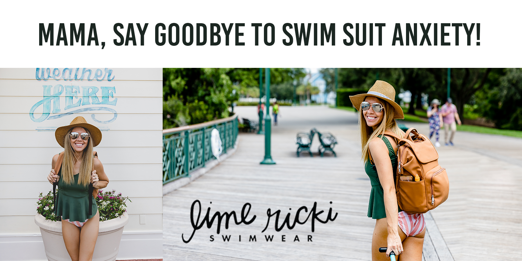 Mama, Say Goodbye to Swim Suit Anxiety! LIME RICKI:  Full Coverage without Losing Style!