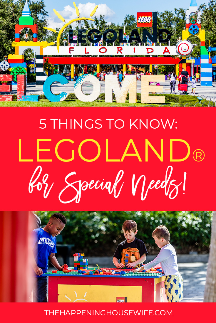 5 Things to Know Before Going to Legoland with your Special Needs kid! #legoland #legolandfl #specialneedslegoland #legospecialneeds #autismlegoland pin