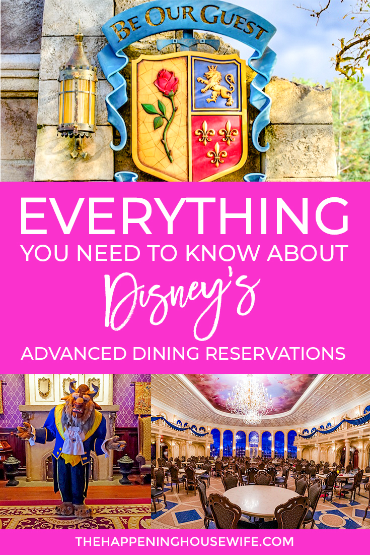 EVERYTHING you need to know about WDW disney advanced dining reservations Disney reservation tips