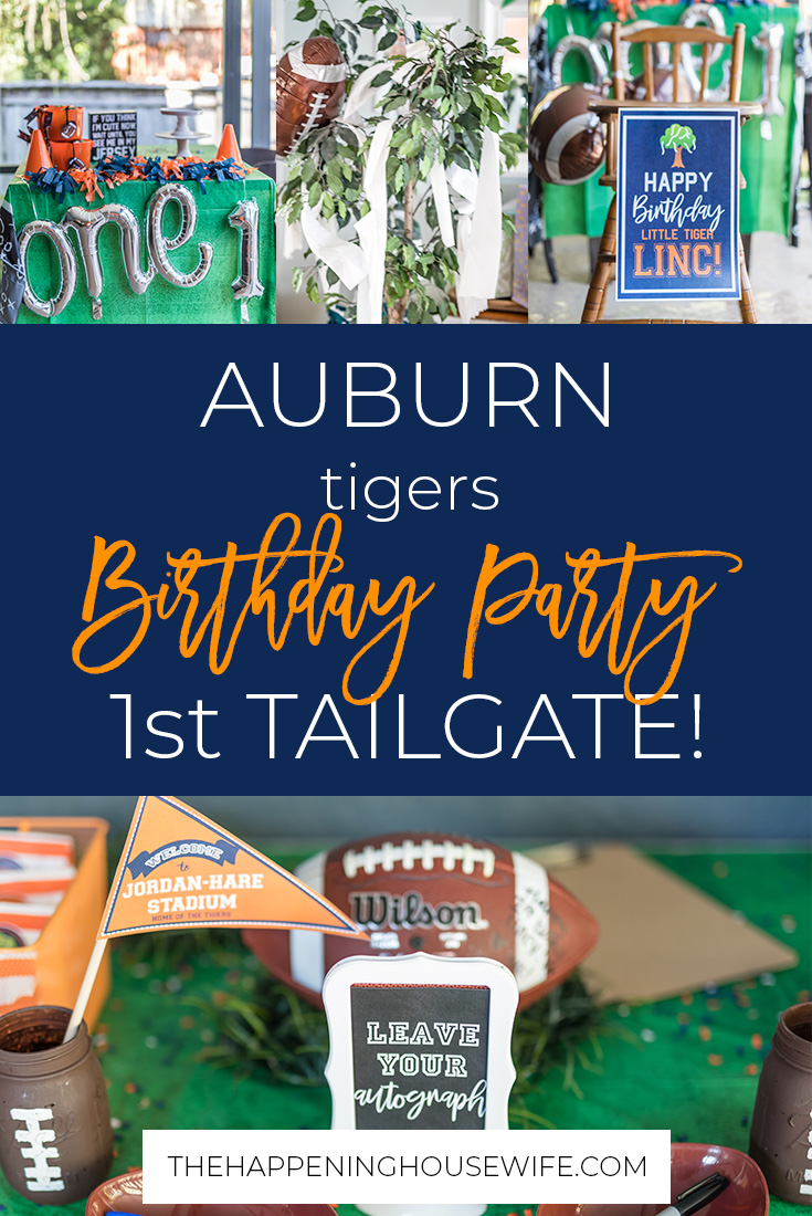 The Cutest Auburn Tailgate Birthday Party! football party theme babys first birthday football party #footballparty #auburntigers #auburntailgate #auburnparty
