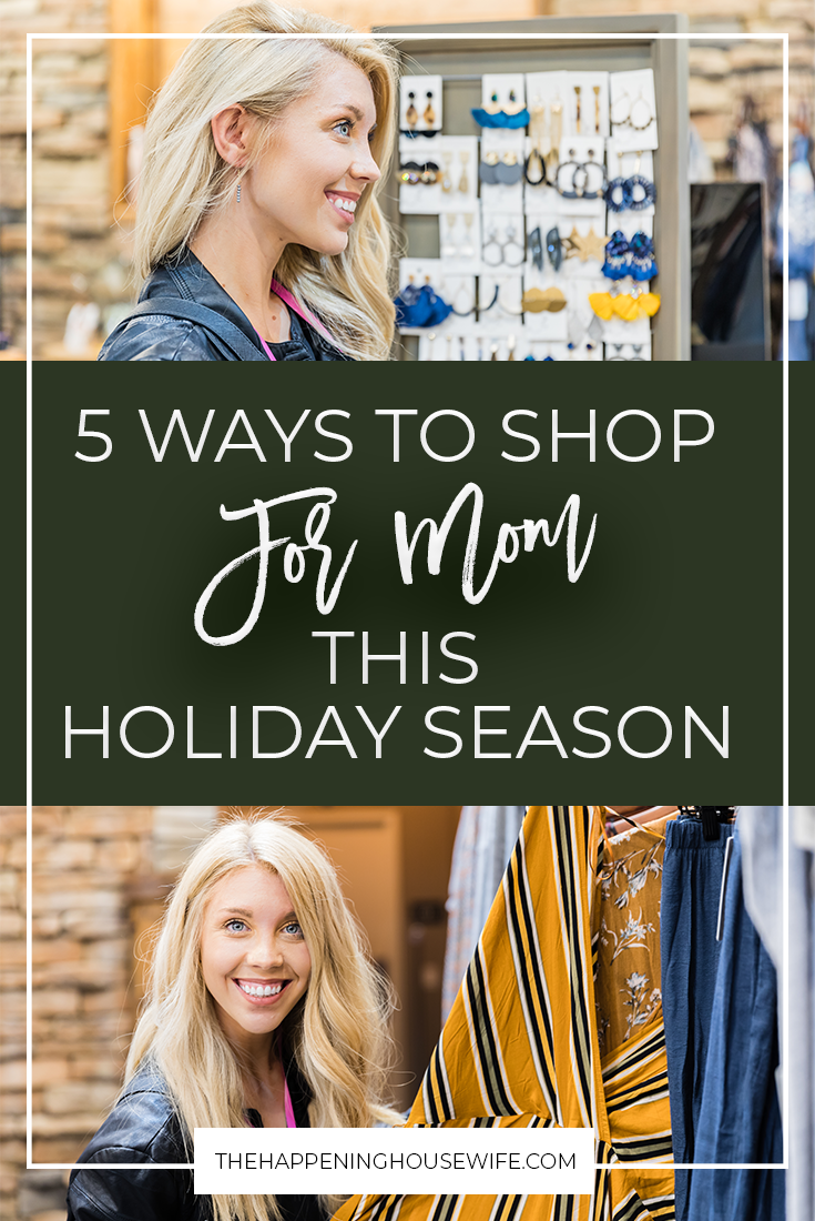 5 Ways to Shop for Mom This Holiday Season!! Gift Ideas for Moms! 5 AWESOME gift ideas for Moms! #momgifts #mom #momstyle #giftguide #giftideas