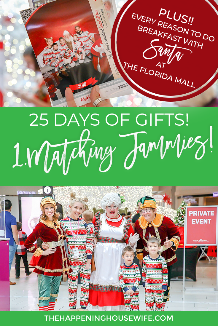 Matching Christmas Family Pajamas GIFT GUIDE for KIDS!! Breakfast with Santa and Photos with Santa at The Florida Mall #floridamall #matchingchristmaspjs #familypajamas #photoswithsanta #santaphotos @thefloridamall @orlandomomsblog