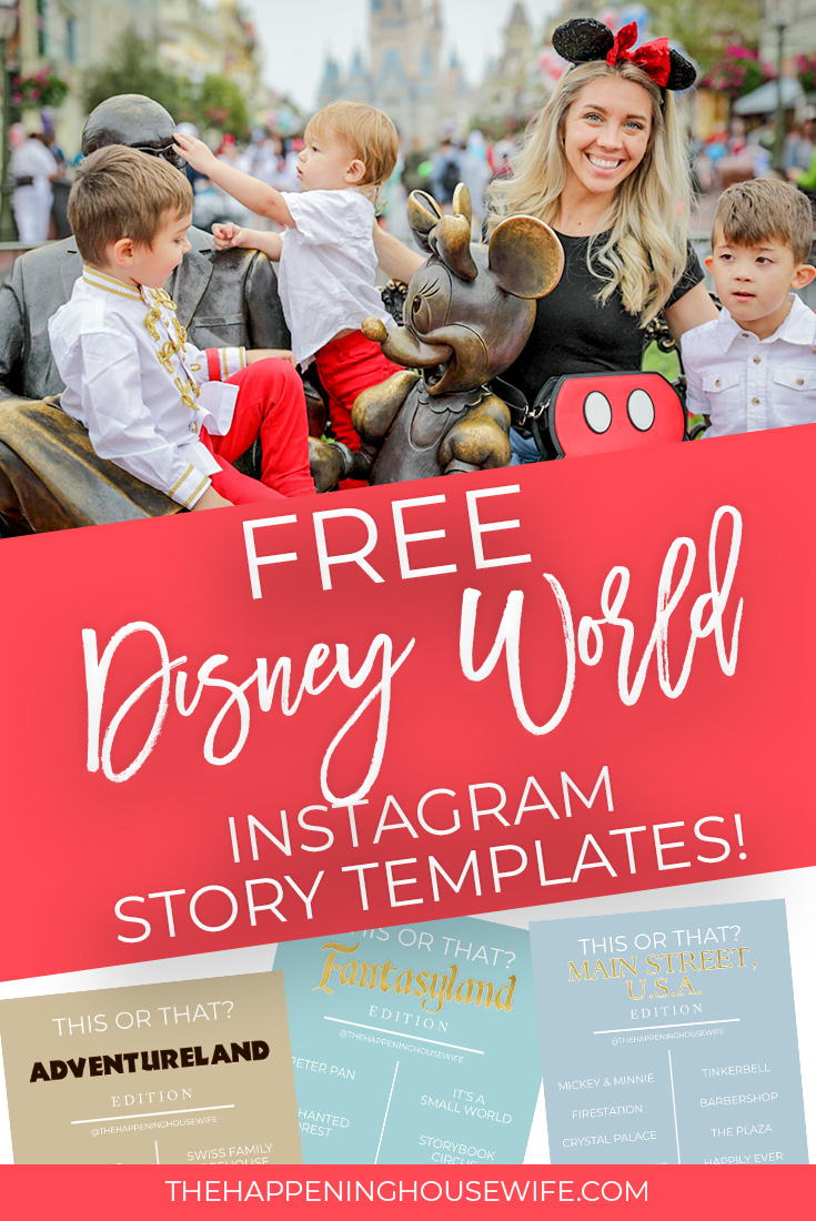 Free Disney Instagram Story Templates This Or That Magic Kingdom