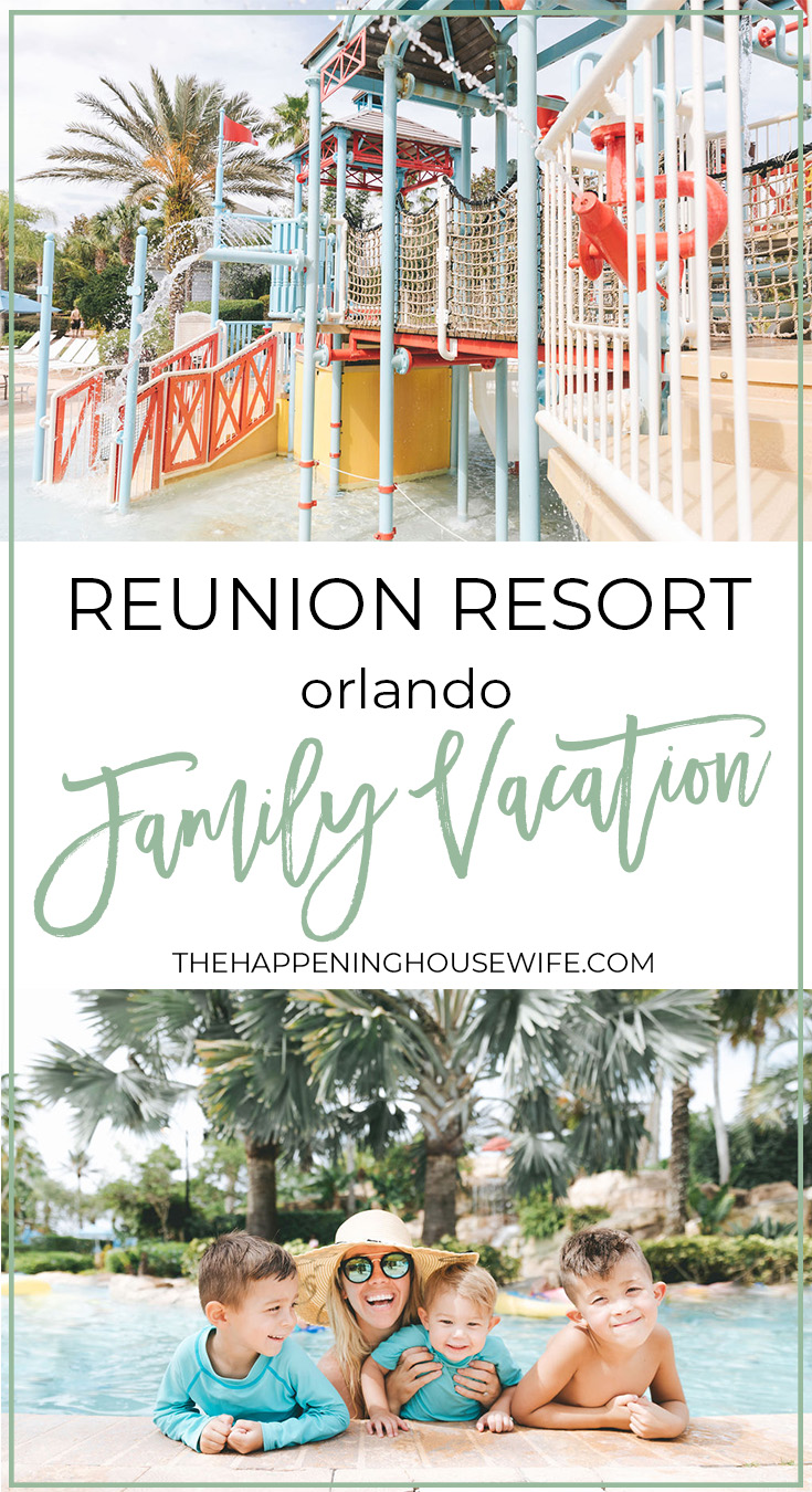 Reunion Resort family vacation review in orlando water park lazy river hotel in orlando near disney