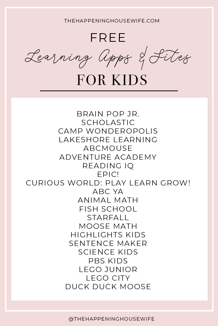 FREE Learning Apps and Sites for kids!!! Homeschooling apps that are free!