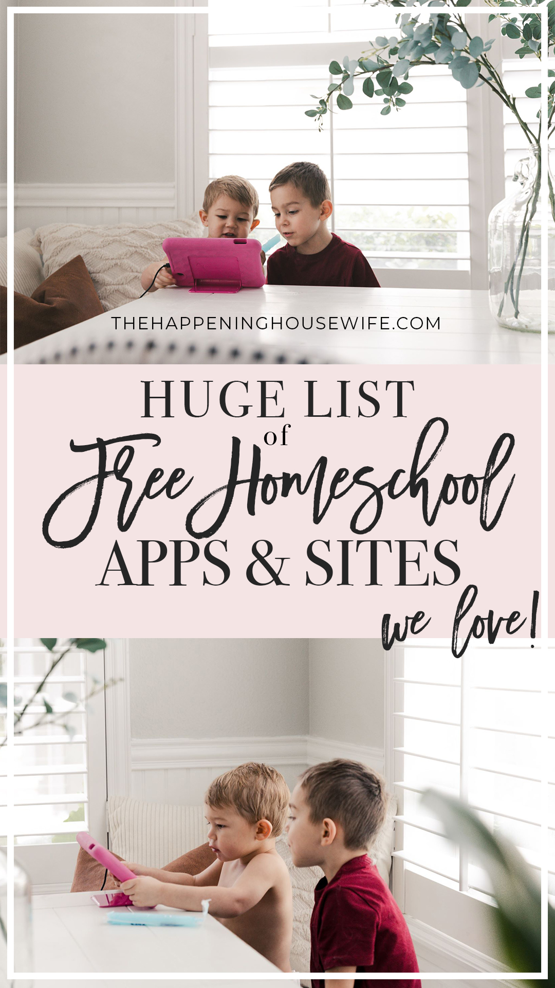 HUGE List of FREE Homeschooling apps and sites for kids!!