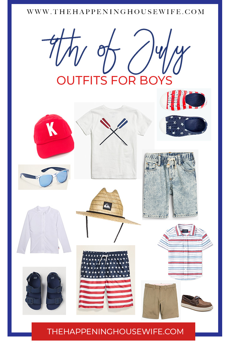 4TH pf July Red White and Blue Outfit Ideas for Boys