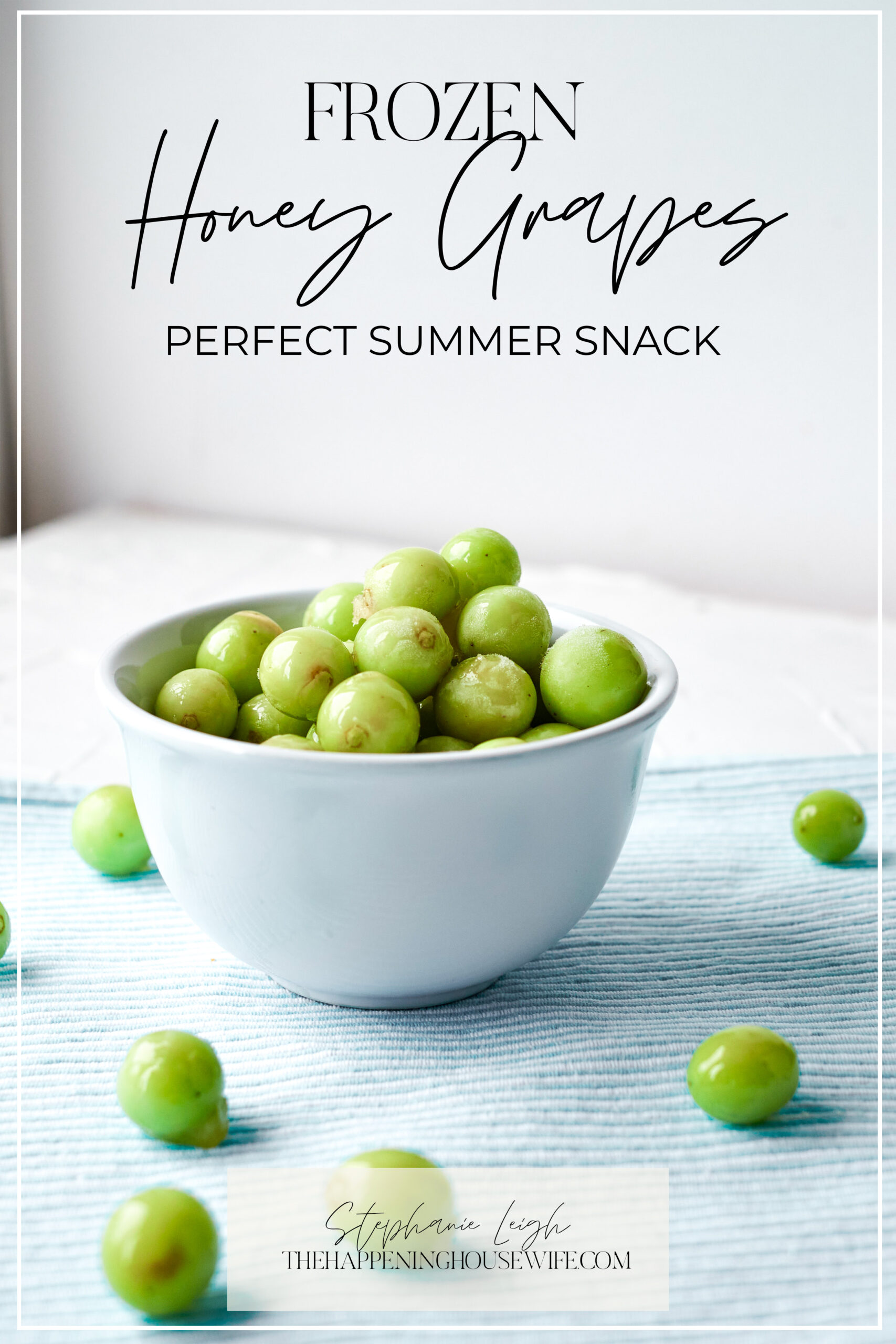 Frozen Honey Grapes!! The PERFECT Summer Snack for the beach, pool, theme park!!