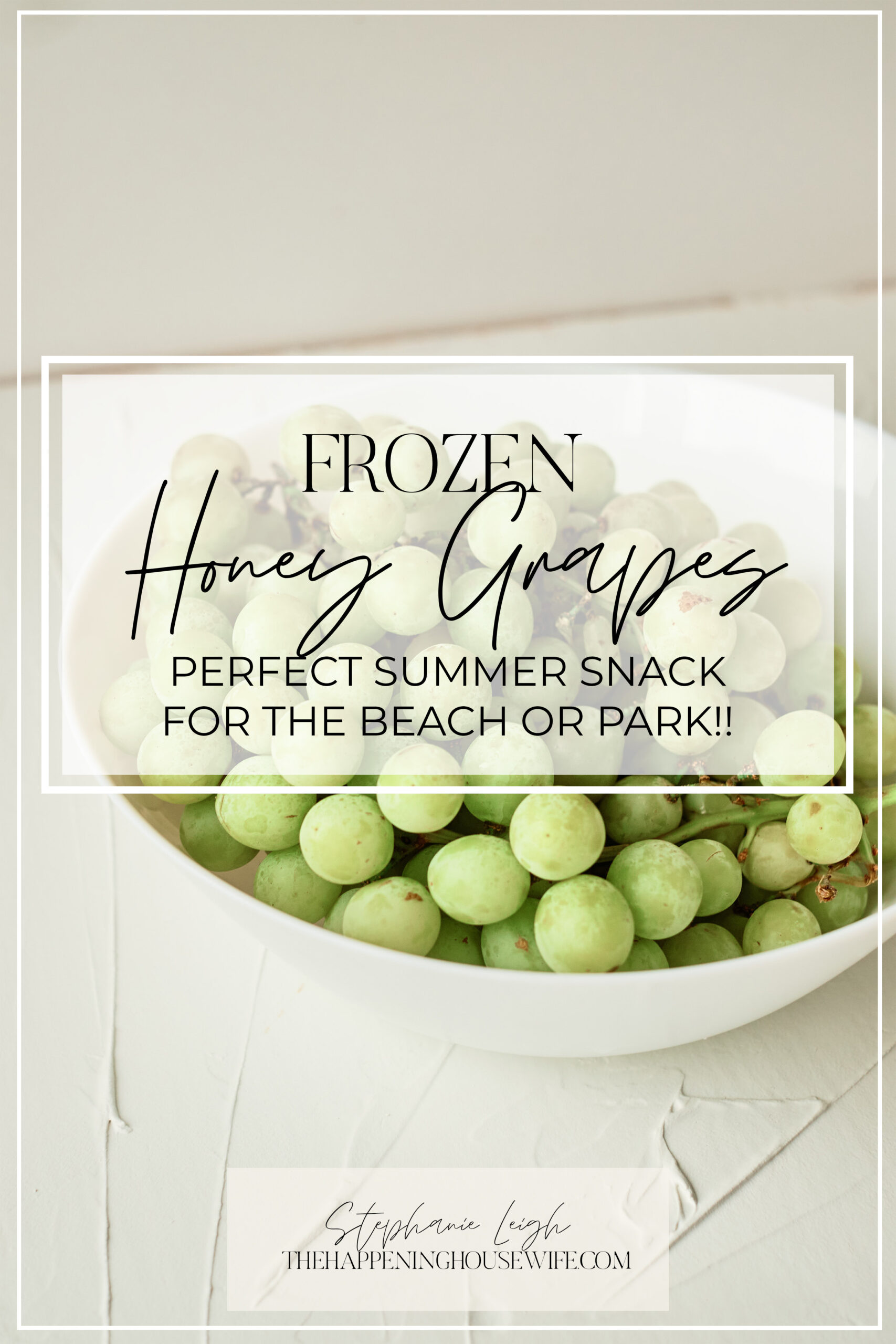 How to make frozen grapes! The BEST beach and Summer snack!!