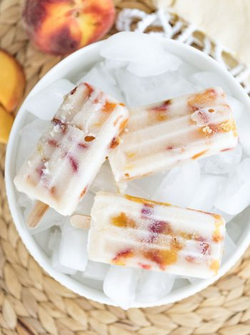 Vegan Peaches & Cream Popsicles